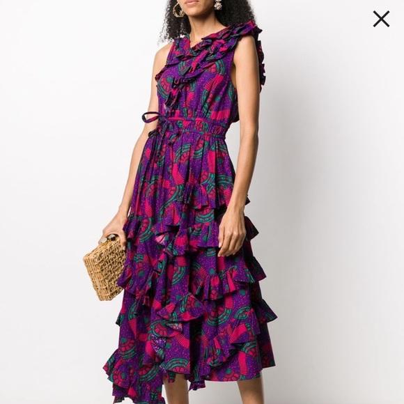 Ulla Johnson Imogen printed ruffle dress